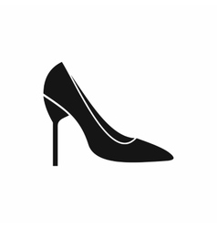 Bride shoes icon simple style vector