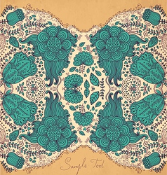 Mirrored floral design vector