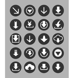 Downloading icons set vector