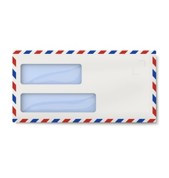 Air mail dl envelope with two windows for addresse vector