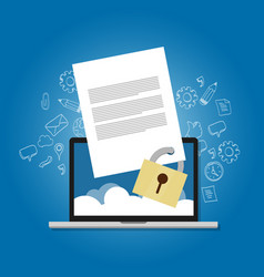 Content security file protection document paper vector