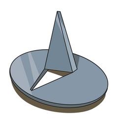 Cartoon image of push pin icon pin symbol vector