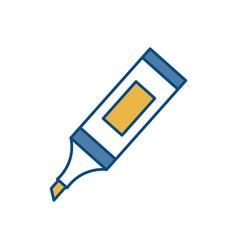 Highlighter pen icon vector