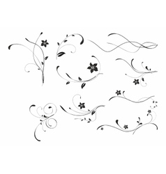 Abstract floral patterns vector