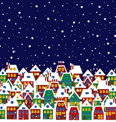 Village in winter vector