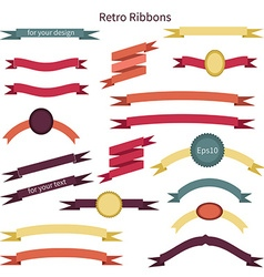 Set of banners and ribbons vector
