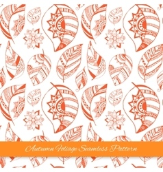 Colorful floral autumn seamless pattern background vector image