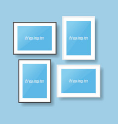 Black and white photo frames vector