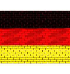 German brick wall vector