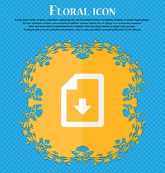 Import download file floral flat design on a blue vector