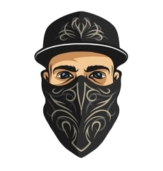 A guy in a bandana with a pattern vector image