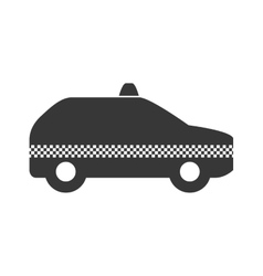 Taxi car icon Public service design vector image