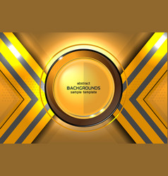 Abstract gold background technology vector