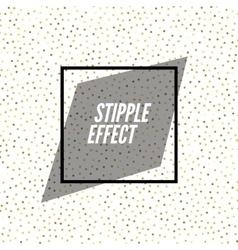 Abstract stipple dots pattern black Polka vector image
