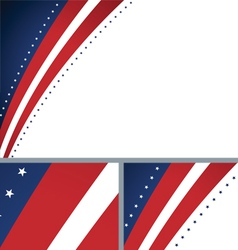 American abstract presidential elections stars vector