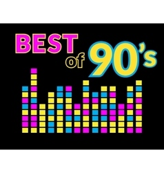 Best of 90s vector image vector image