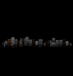 black geometric isolated abstract big city vector image