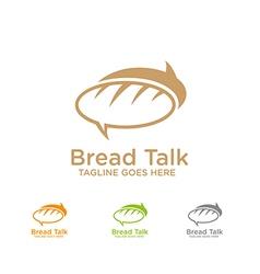 Bread talk logo vector