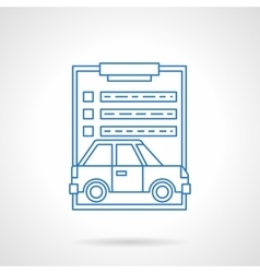 Car insurance services flat line icon vector
