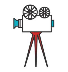 Cinema film camera icon vector