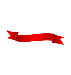 classic red elegant ribbon isolated icon vector image vector image
