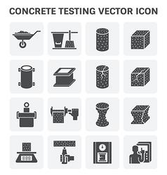 Concrete Testing Icon vector image vector image
