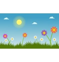 Flower at spring beauty landscape vector