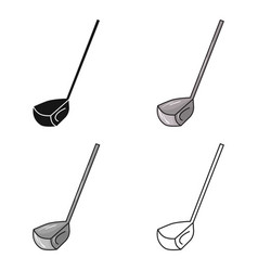 golf club icon in cartoon style isolated on white vector image vector image