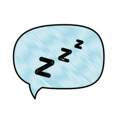 isolated sleep time speech bubble vector image vector image