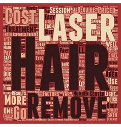 Laser hair removal cost main factors text vector