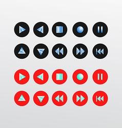 Media player icons set basic vector