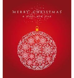 Merry Christmas bauble background EPS10 file vector image