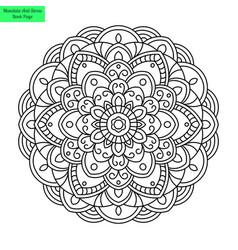 round mandala flower vector image