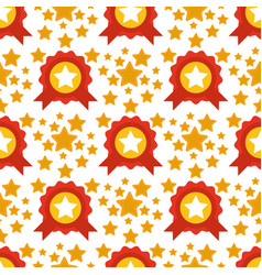 seamless pattern with stars award decorative vector image