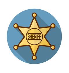 Sheriff badge icon vector