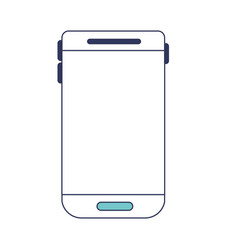 smartphone device icon in blue color sections vector image