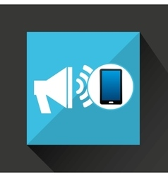 Smartphone speaker social network media icon vector
