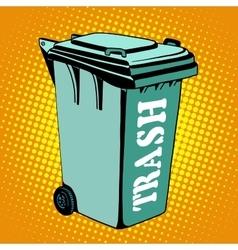 Trash ecology recycling tank vector