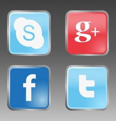 Social internet buttons vector