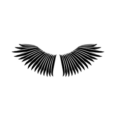 Bird wings icon simple style vector