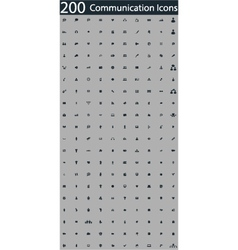 Set of 200 communication icons vector