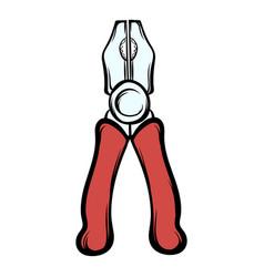 pliers icon cartoon vector image