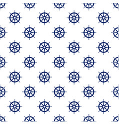 Blue boats wheel  seamless pattern vector