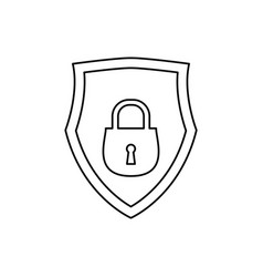 Shield security abstract padlock vector