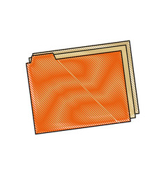 Folder files document paper office supply vector