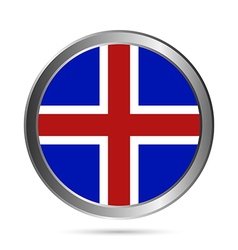Iceland flag button vector