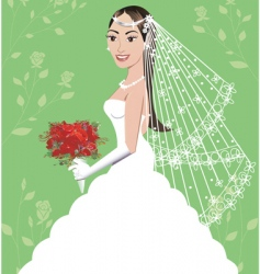 Wedding gown vector
