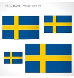 Sweden flag template vector