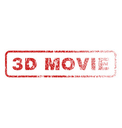 3d movie rubber stamp vector image