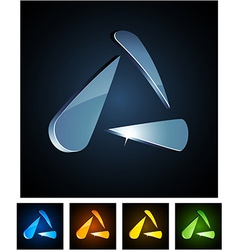 3d vibrant triangle vector image vector image